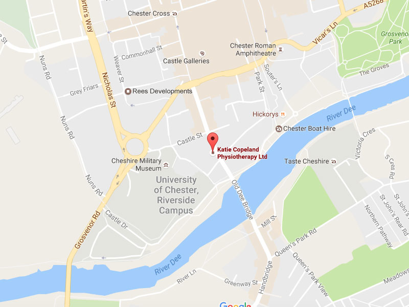 map Chester Physiotherapy Clinic